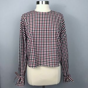 NWOT ARITZIA Wilfred Gingham Blouse M